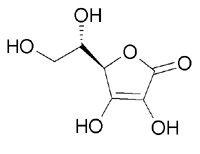 Strukturformel Ascorbinsäure